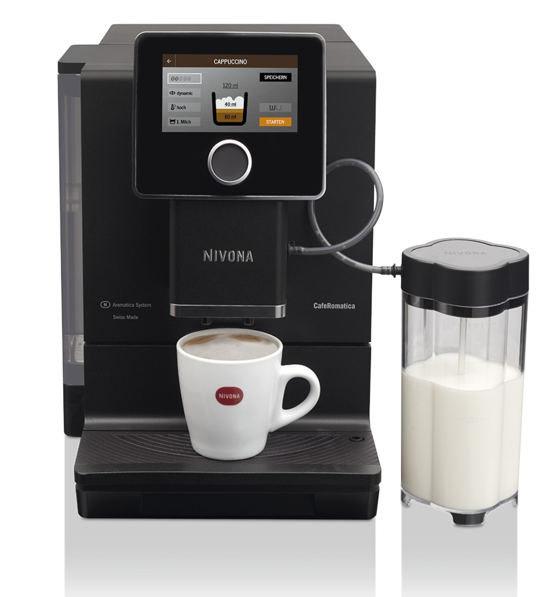 Nivona CafeRomatica 960 Mattschwarz - Chrom NICR960