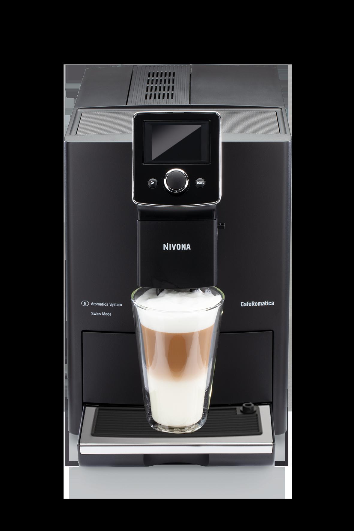 Nivona CafeRomatica 820 Mattschwarz - Chrom NICR820