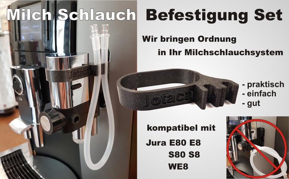 Milch Schlauch Befestigung Set kompatibel mit Jura E80 E8 S80 S8 WE8