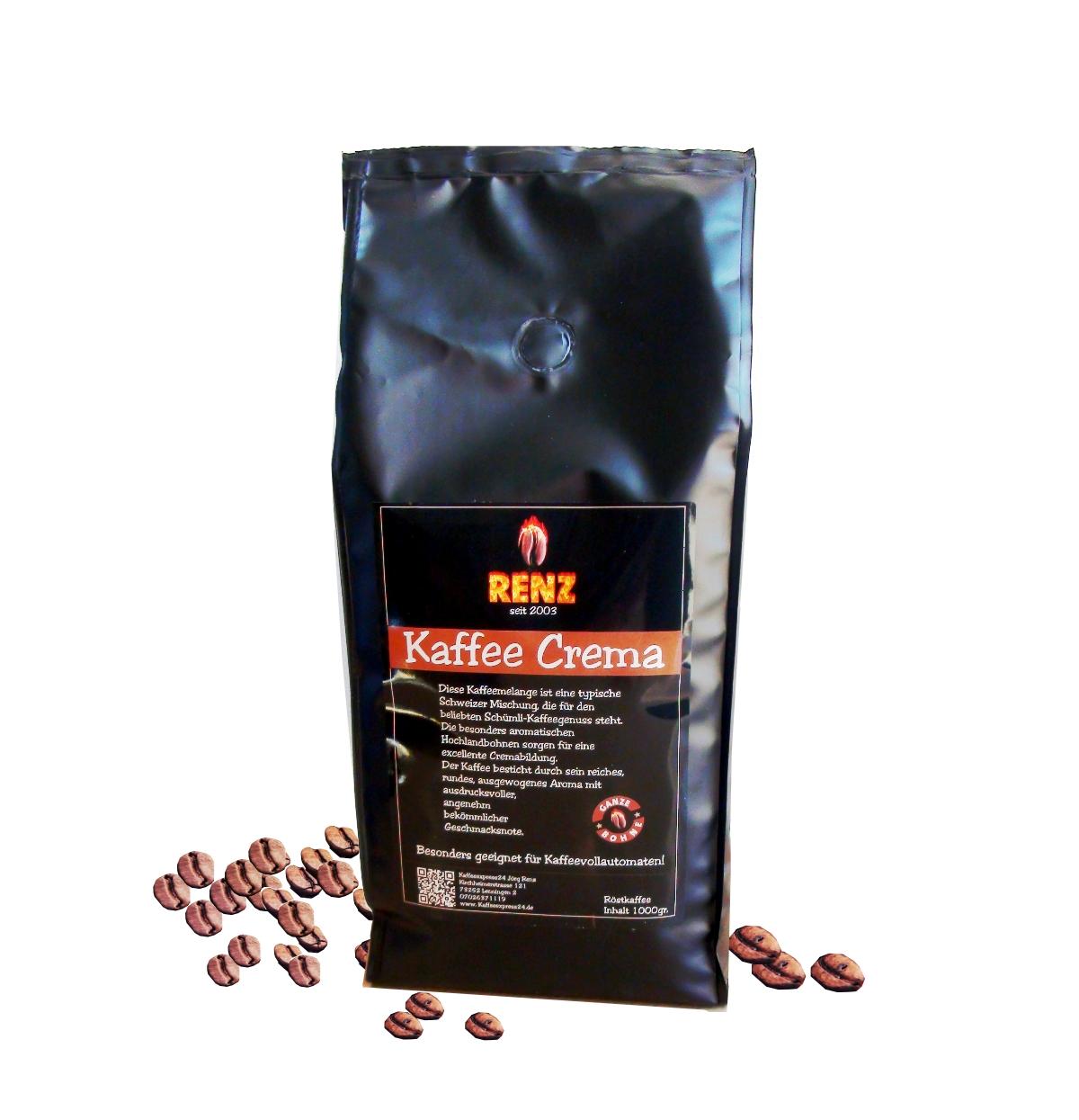 Renz Kaffee Crema Bohnen 500g