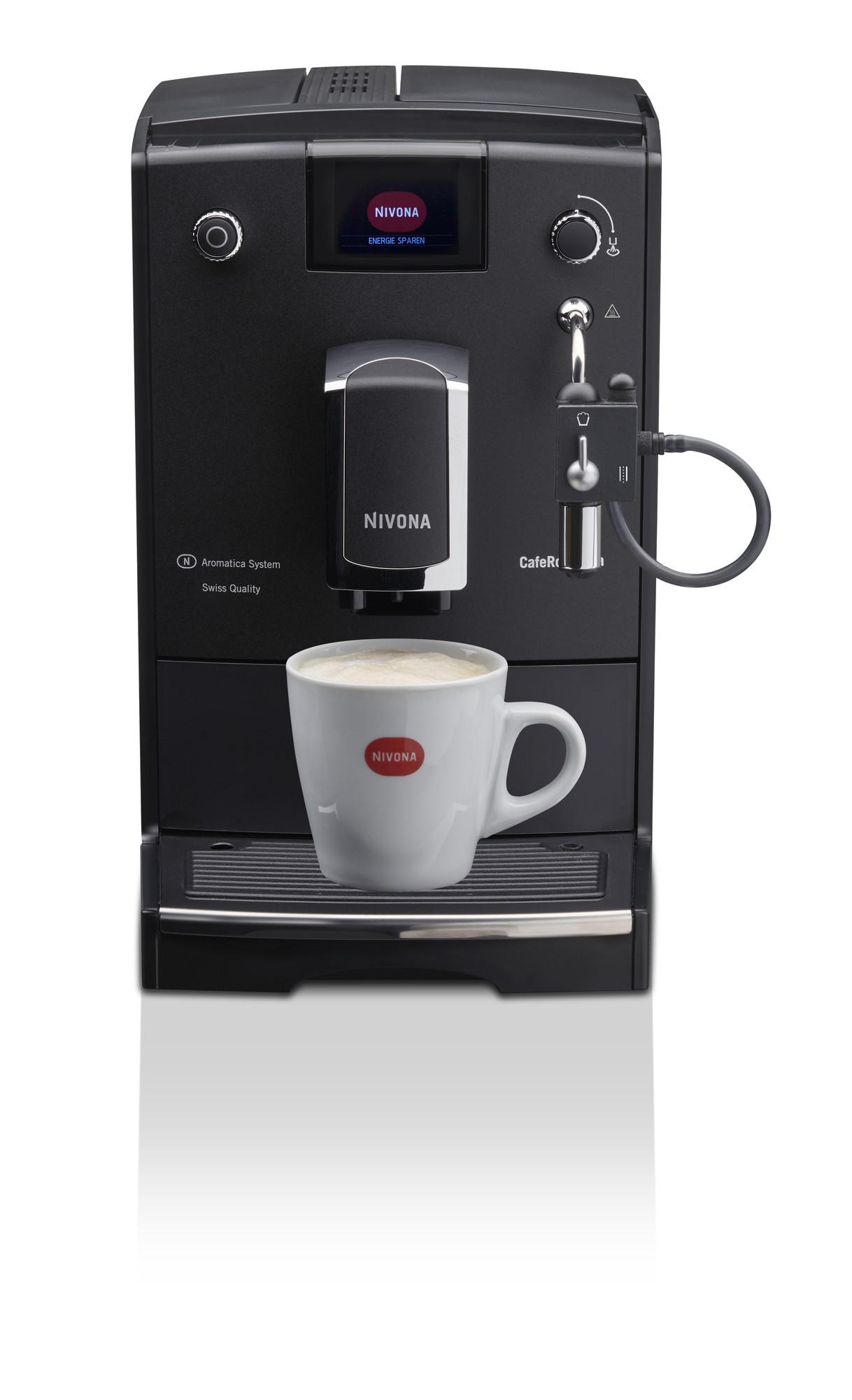 Nivona CafeRomatica 660 Mattschwarz - Chrom NICR660